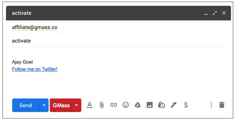 GMass affiliate signup