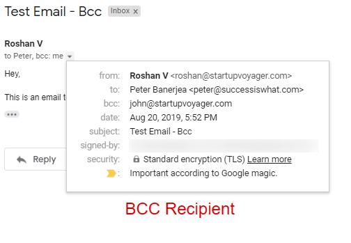Bcc recipient