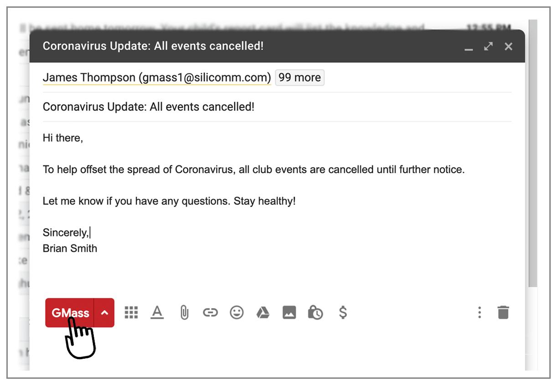 Coronavirus free email