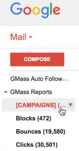 Gmass interface within Gmail