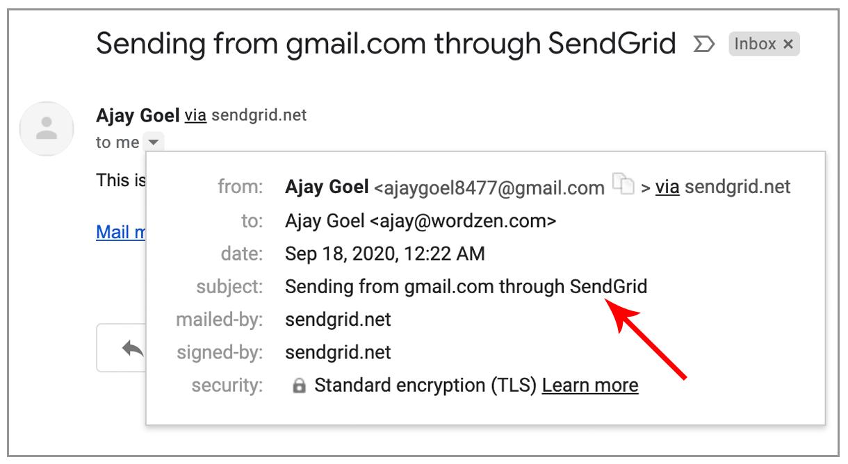 send via SendGrid