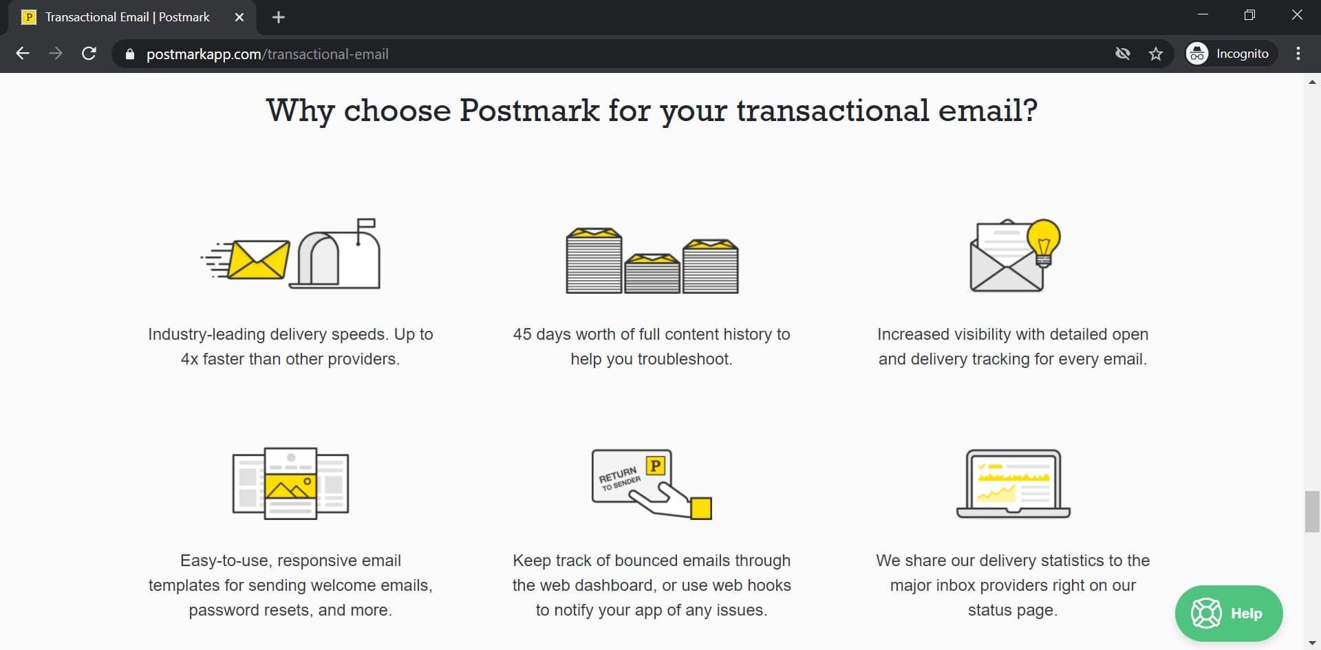 Postmark transactional email service