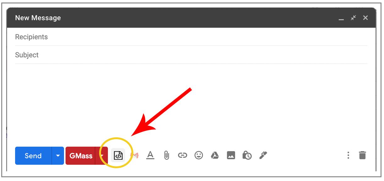 Click HTML icon