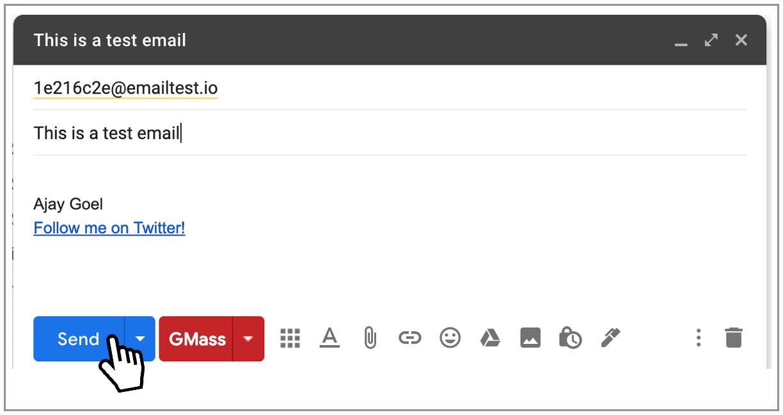 Gmail blue send button