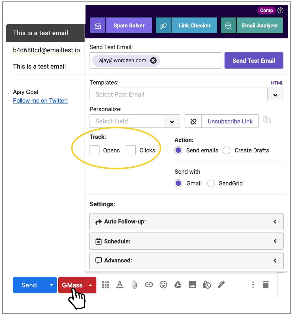 sending from Gmail API