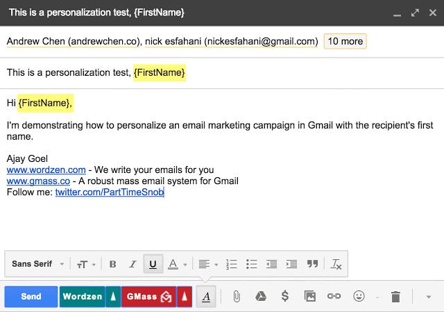 ActiveCampaign Alternatives_GMass_Personalization
