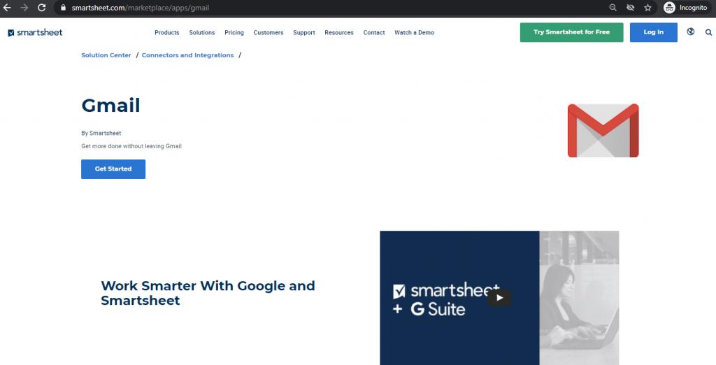 Gmail Add Ons Smartsheet