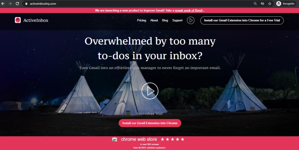 Gmail Extensions ActiveInbox