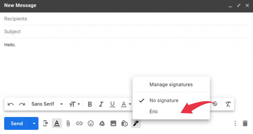 Gmail signature 2