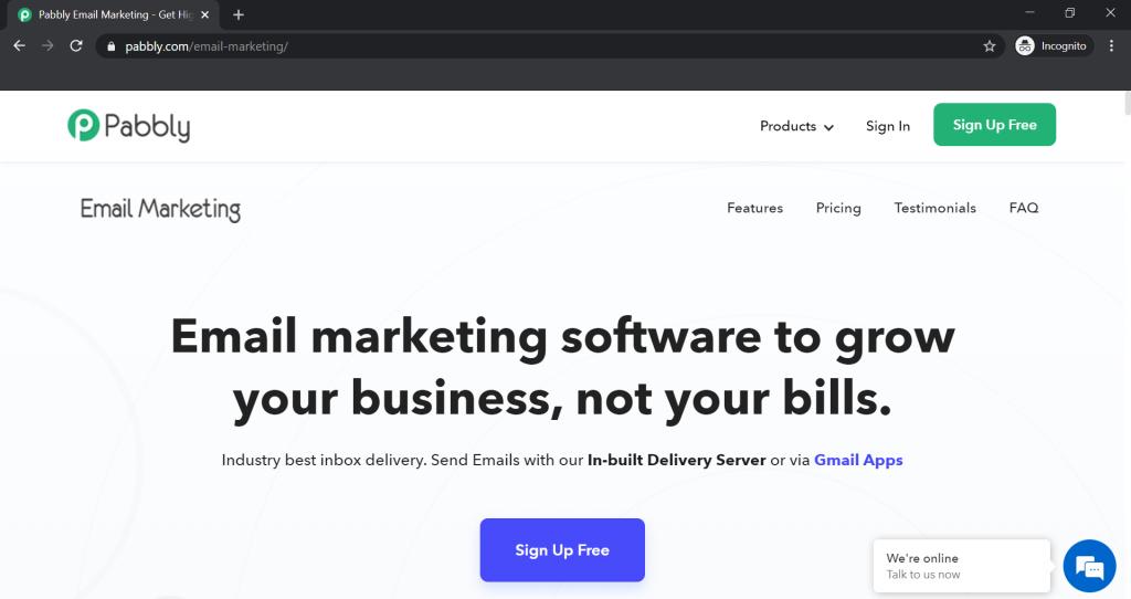 GetResponse Alternatives - Pabbly Email Marketing
