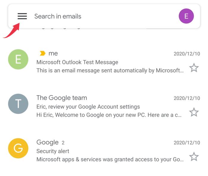 Gmail queued - Fix a queued email - Gmail sync