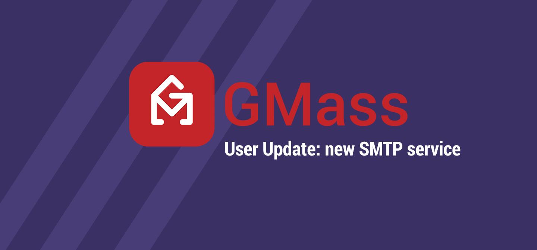 GMass SMTP service