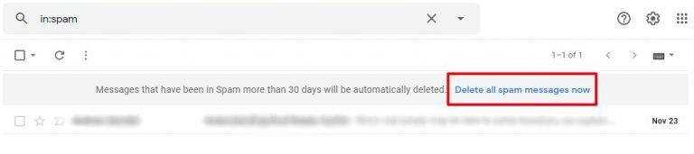 delete all spam