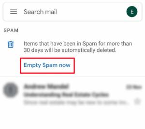 empty spam now
