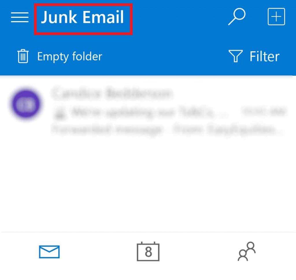 junk email folder