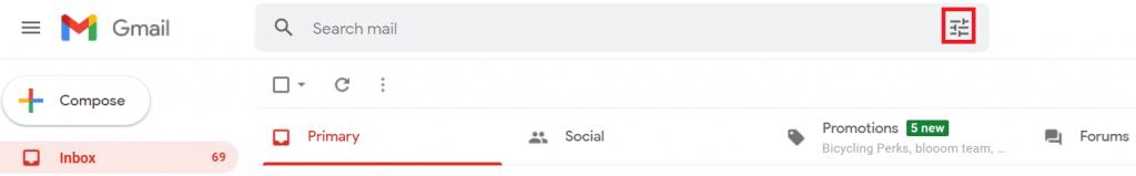 show search icon